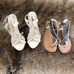 Shoes - Bundle 2 pairs of sandals/wedges